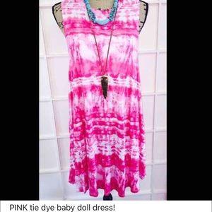 Sale Baby doll tie dye dress