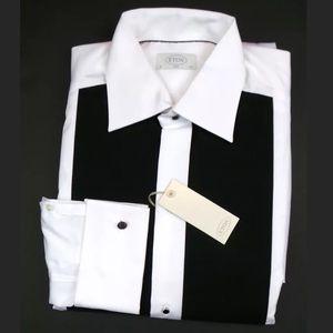 ETON Other - ETON Slim Fit Contrast Bib B&W Tuxedo Shirt