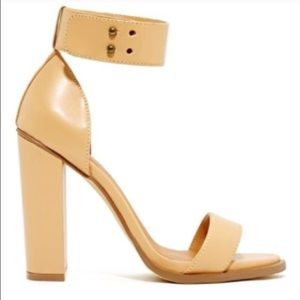 Shoe Cult Nude Heeled Sandals Sz 7.5