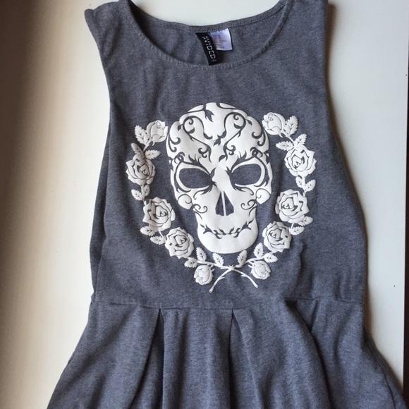 f5111040019f H&M Dresses | H M Skater Skull Dress | Poshmark