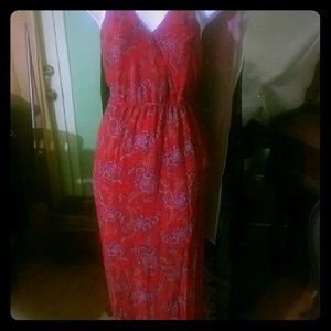 NWOT Forever 21 red Paisley maxi dress