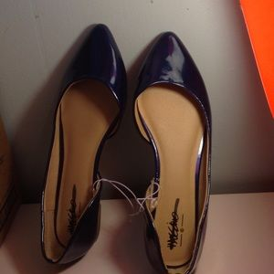 NWOT Blue Pointed Flats