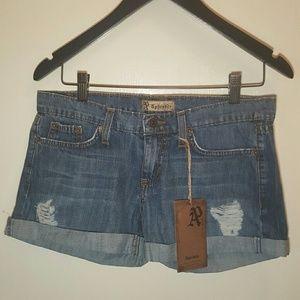 Aphrodite Pants - Aphrodite cuffed distressed jean denim shorts! NWT