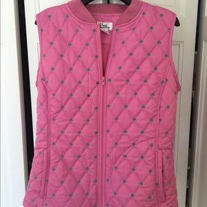 NEWLY REDUCED Lilly Pulitzer Hot Pink Puffy Vest
