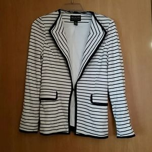 Akualani Jackets & Blazers - Navy and off white striped blazer size small