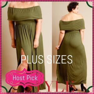 Passion of Essense Dresses & Skirts - 🎉 HP 6/3/17 Plus Size Off The Shoulder Dress