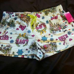 NWT Jenni bunny sleep shorts