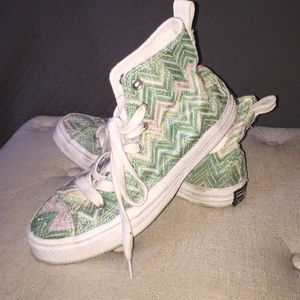 Missoni Converse High Top Sneakers