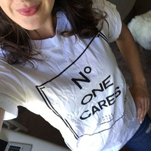 Tops - No One Cares Graphic Tee