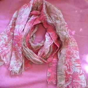 Accessories - Pink & tan summer scarf
