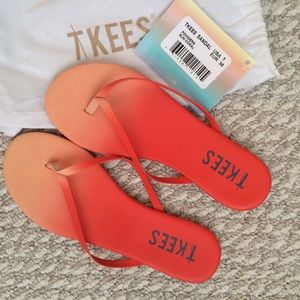 Tkees Shoes - Orange / Coral Ombré Flip Flops