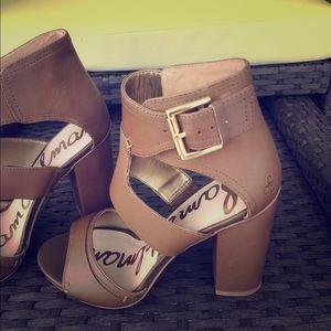 Sam Edelman chunky heels sandals NWOT