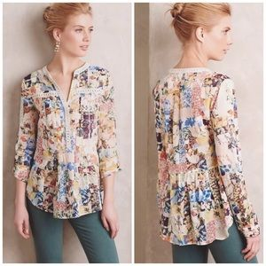 Anthropologie Tops - Anthropologie Maeve Patchwork Embroidered Top