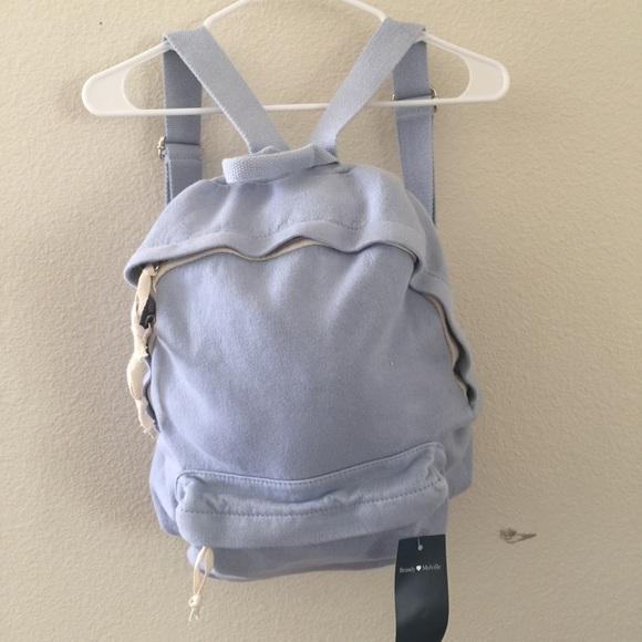 25c483e547 Brandy Melville pastel blue school backpack NWT