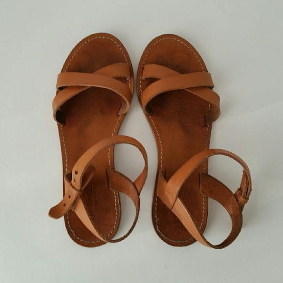 412c5c872bbd Madewell Shoes - Madewell Boardwalk Crisscross Leather Sandals