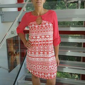 17/21 Exclusive Denim Dresses & Skirts - 🌟AZTEC print dress