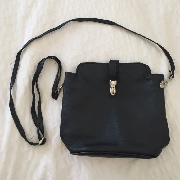 Handbags - Thin Strap Italian Leather Crossbody Bag