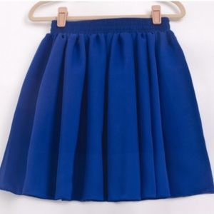 Dresses & Skirts - MOVING SALE❗️Cobalt Blue Chiffon Mini Skirt