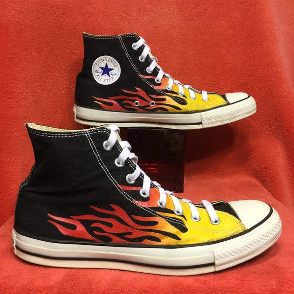 Converse Other - CONVERSE ALL STAR high top Hot Rod FLAMES mens 11 52bc7ddb7b