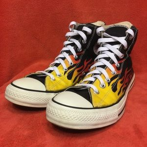 CONVERSE ALL STAR high top Hot Rod FLAMES mens 11