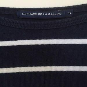 Anthropologie Tops - Le Phare de la Baleine Navy Striped Tee | Anthro