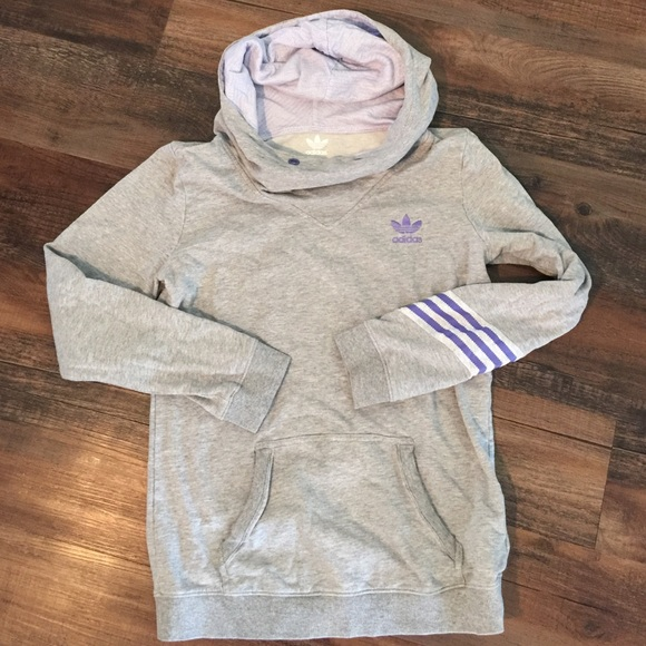 72% off Adidas Sweaters - Adidas Grey Cowl Neck Hoodie from Anna's ...
