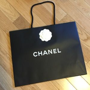 Authentic Chanel Shopping Bag with camellia