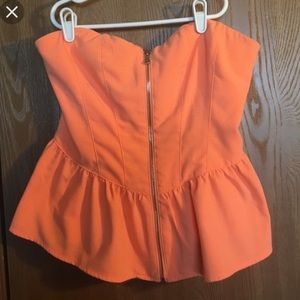 Forever 21 Tops - Forever 21 - Nwt peplum top with zipper