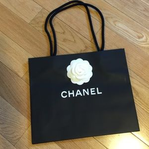 Authentic small Chanel Shopping bag w/ camellia
