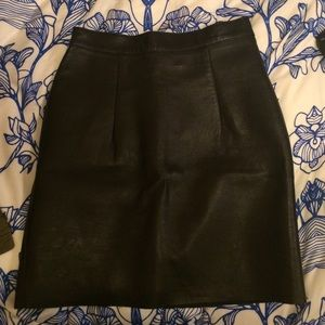 American Apparel Lambskin Leather Mini Skirt XS