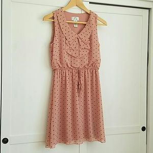 LAST CHANCE! Dusty Pink Polka Dot Summer Dress
