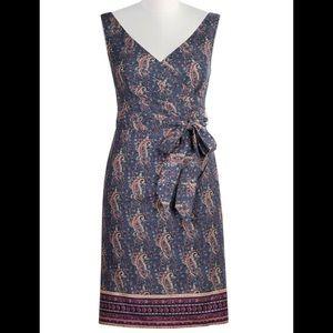 New Eshakti Paisley Faux Wrap Pencil Dress M 10