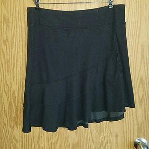 Horny Toad Skirts - NWOT Horny Toad Charcoal Grey Scallop Skirt sz L