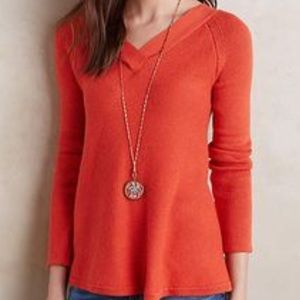 Anthropologie Double-V Pullover Knit Top, Small