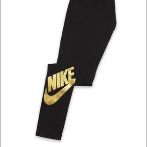 Nike Pants - Nike Gold Leggings XL