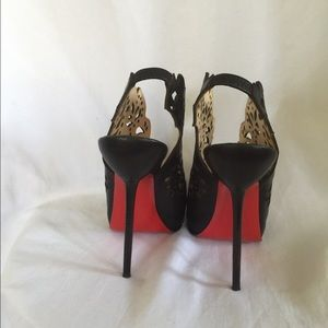 Christian Louboutin Shoes - RARE Markesling Black Leather Laser Cut Booties