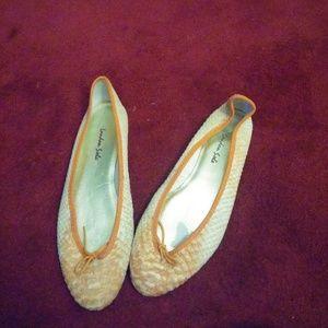 London Sole Shoes - London Sole Orange Flats:The Velvet Closet