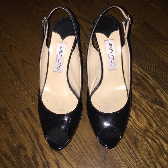 9da608e992b4 Jimmy Choo Shoes - 🎀Black Patent Leather JimmyChoo Slingback heels🎀