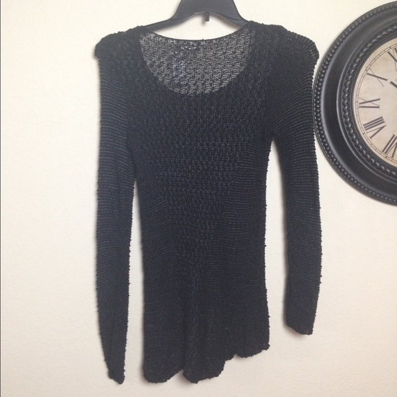 Mudd Sweaters - Distressed Black Sweater Top Longsleeve Stretchy M