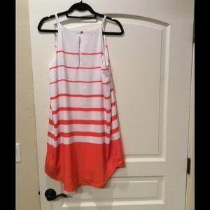 BRAND NEW WHITE AND ORANGE SUMMER DRESS