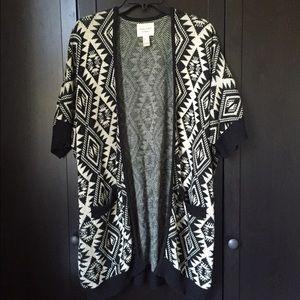 Southwestern/Aztec Print Kimono Cardigan