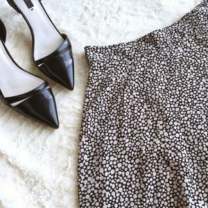 Chic Semi-Sheer Dotted Mini Circle Skirt