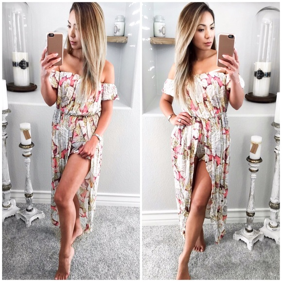 edfd0202bdcc Price Cut to Sell💋 Pink Lemonade Maxi Romper