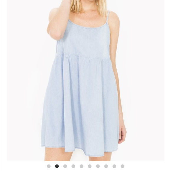 1208c9b7c8 American Apparel Denim Babydoll Dress