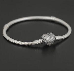 Pandora Jewelry - Pandora pave heart bracelet PICK YOUR SIZE