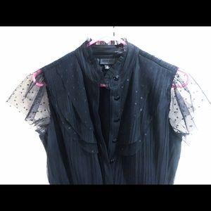 Anna Sui Black Polka Dot Dress