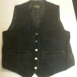 Scully Jackets & Blazers - Vintage Scully XL Black Suede Vest