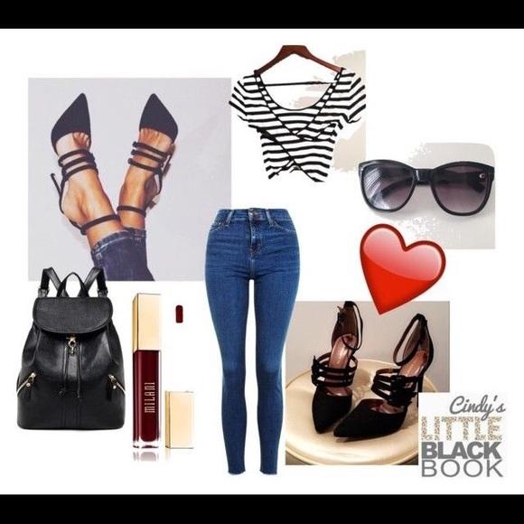 Shoe Republic LA Shoes - 💣 Black Strappy Suede Heels 💣