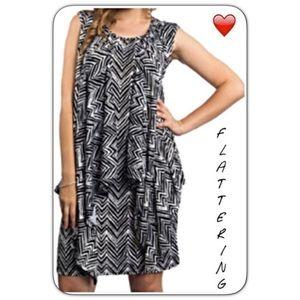 Flowy Stretchy Soft Ruffle Slip Dress SM