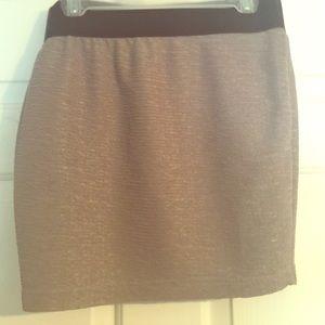 Sparkly grey mini skirt